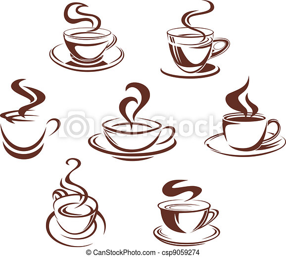Coffee and tea cups - csp9059274
