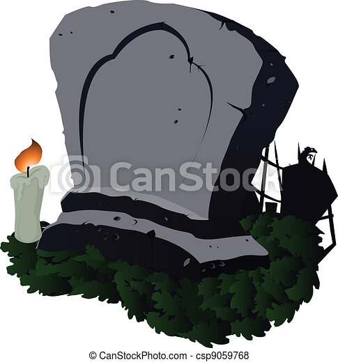 Abstract Grave - Vector Illustration - csp9059768