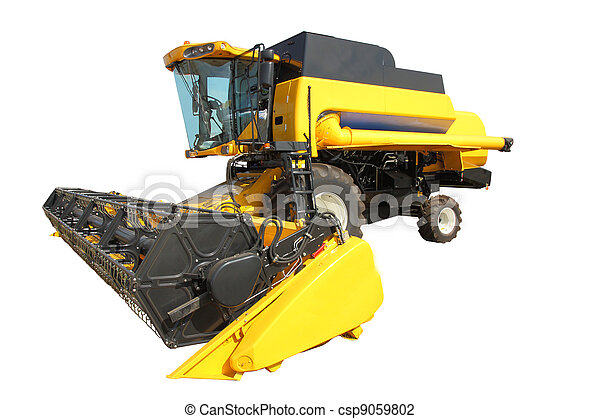 combine harvester on a white background - csp9059802