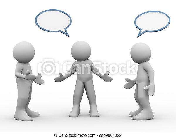 3d people talking - csp9061322