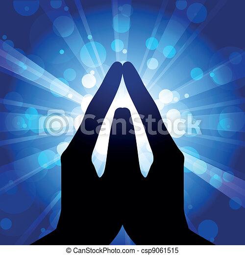 Prayer - vector illustration - csp9061515