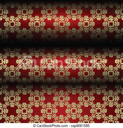 Red and gold material background - csp9061585