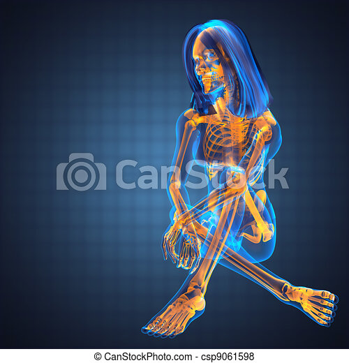 cute woman radiography - csp9061598
