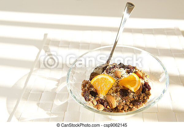 Nutritious bowl of muesli - csp9062145