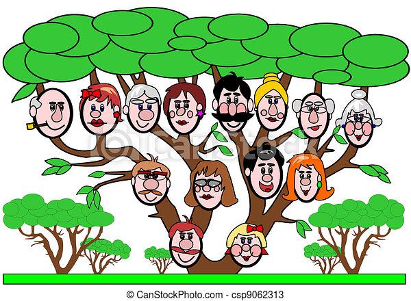 Simple Family Tree Drawings Family Tree Csp9062313