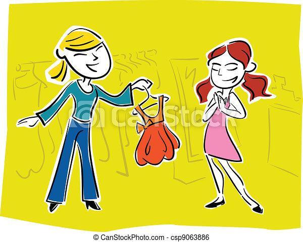 prom dress picking - csp9063886