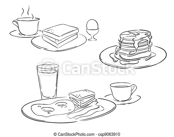 breakfast style drawings - csp9063910