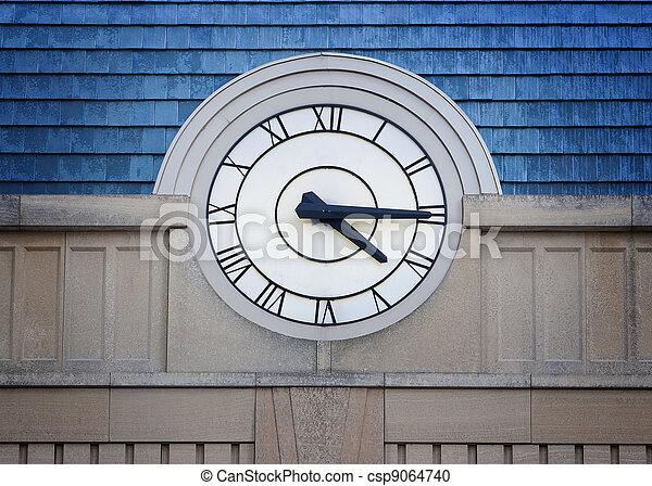 Big Clock Roman Numerals - csp9064740