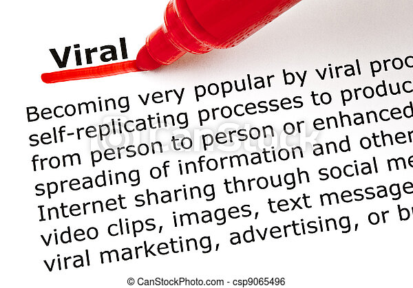 Viral underlined with red marker - csp9065496