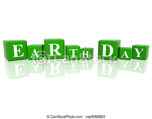Earth Day in 3d cubes - csp9066824