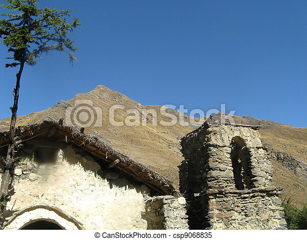 Abandoned Church-Bolivian Altiplano - csp9068835
