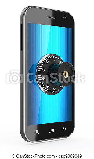 Phone with combination Lock - csp9069049