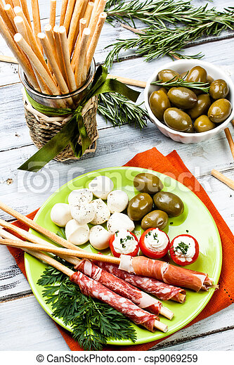 delicatessen appetizers - csp9069259