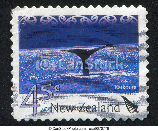 NEW ZEALAND - CIRCA 2004: stamp printed by New Zealand, shows Tourist Attractions - Kaikoura, circa 2004 - csp9070779