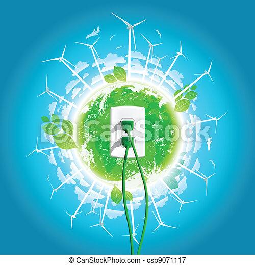 Green Energy Plug Concept - csp9071117