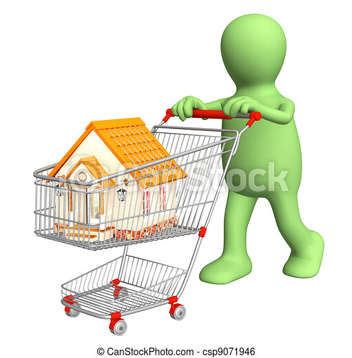 Puppet - buyer, bought the house - csp9071946