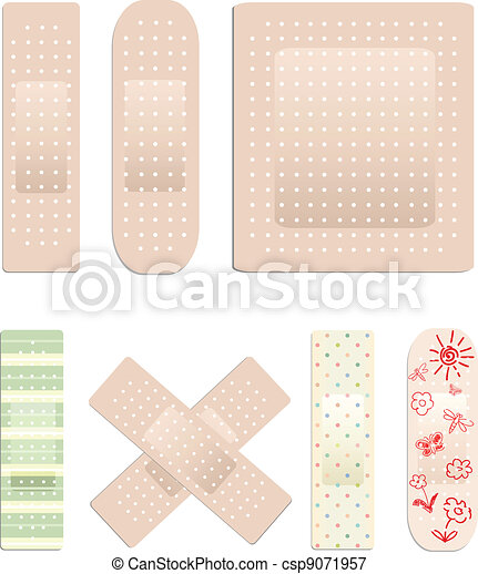 Vector collection of plasters - csp9071957