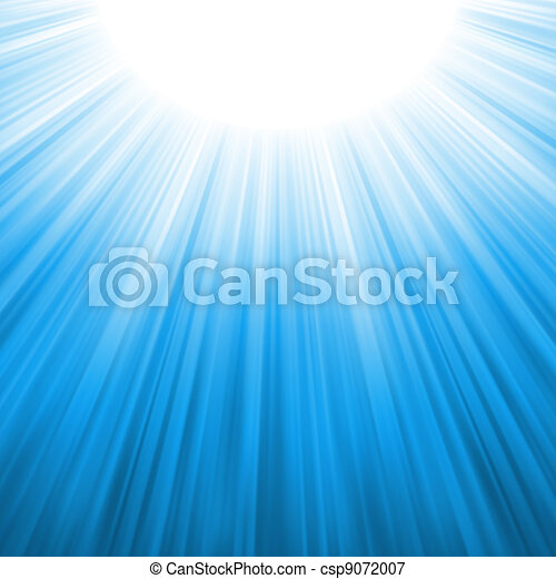 Sunburst rays of sunlight tenplate. EPS 8 - csp9072007