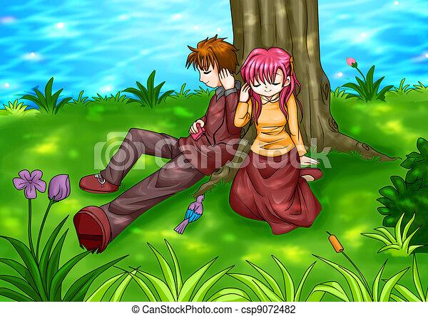 Teen Couple - csp9072482