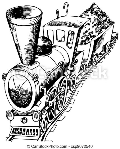 Heavy railroad engine - csp9072540