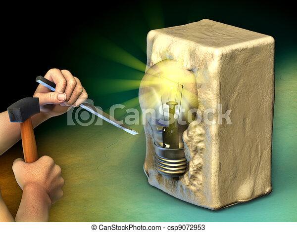 Creating an idea - csp9072953