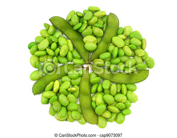 Edamame soy beans shelled and pods - csp9073097