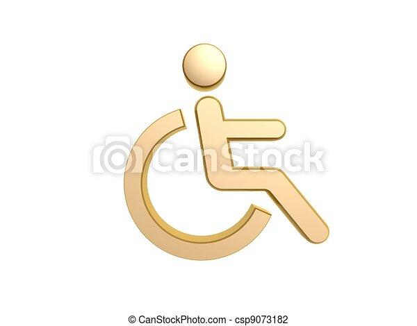 disability icon symbol - csp9073182