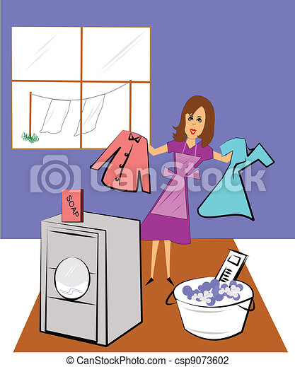 laundry day - csp9073602