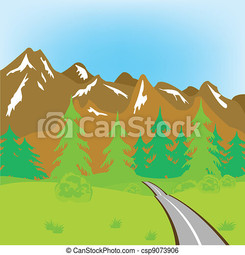 Road in mountains - csp9073906