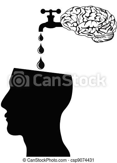 brain supply water into head - csp9074431