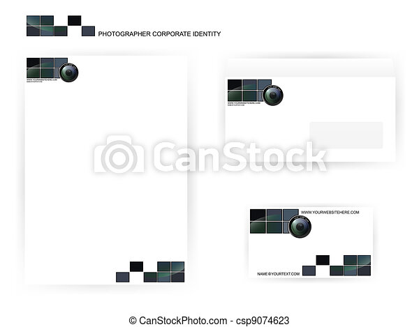 photographer corporate identity templates - csp9074623