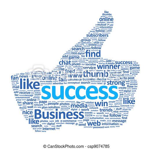 Success Thumb Up Sign - csp9074785