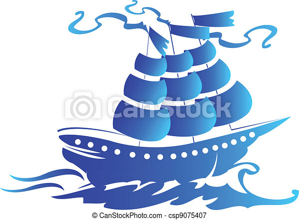 Sail ship logo - csp9075407