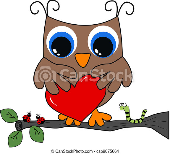 a brown owl with a big heart - csp9075664