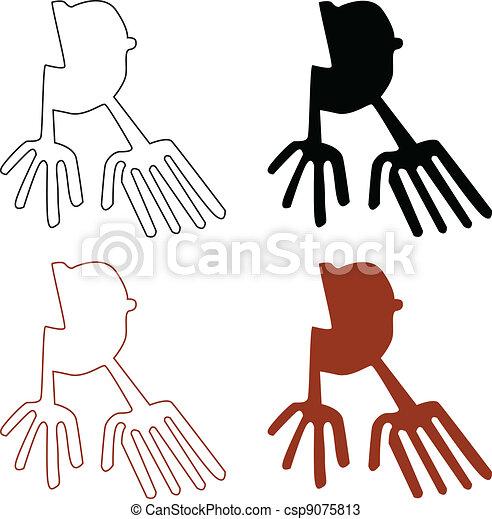 Vectores de Nazca, líneas, Conjunto, -, vector, Ilustración ...