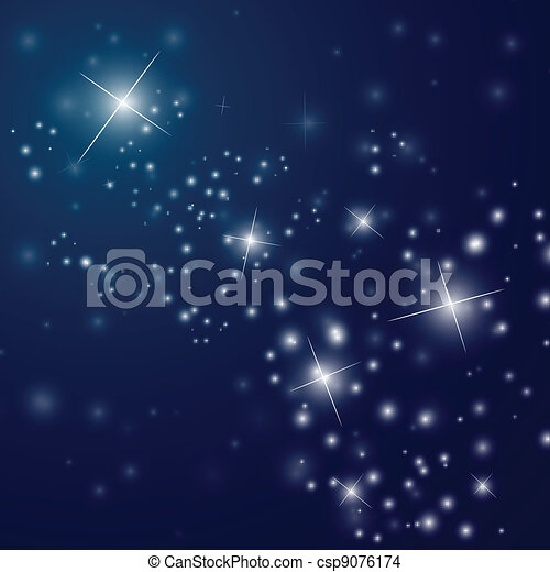 abstract starry night sky - csp9076174