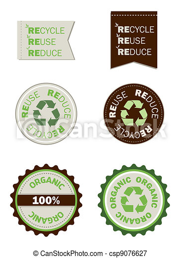 reuse recycle reduce organic seals - csp9076627