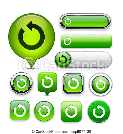 Rotate high-detailed web button collection. - csp9077138
