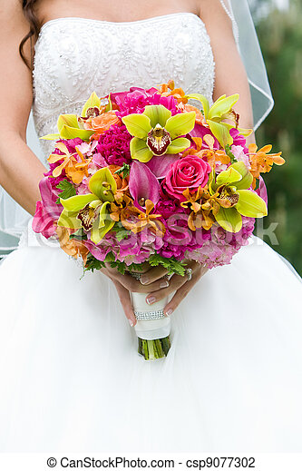 Wedding bouquet of Flowers - csp9077302