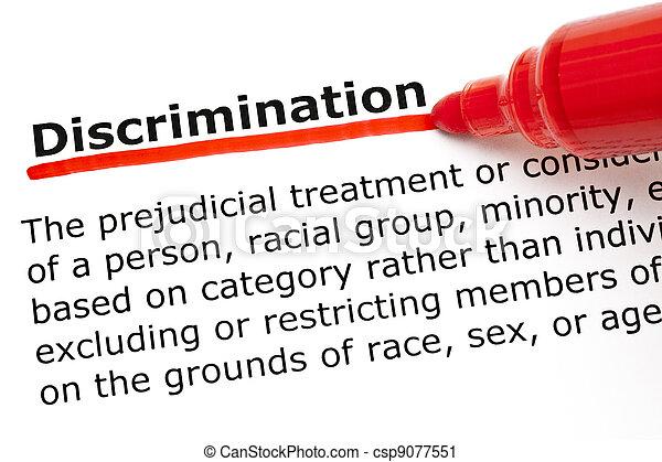 Discrimination underlined with red marker - csp9077551