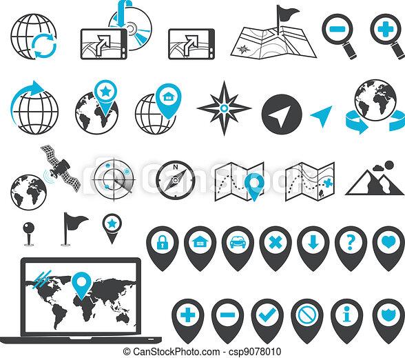 Location and destination icons - csp9078010