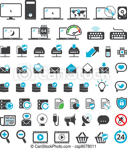 Computer icons set - csp9078011