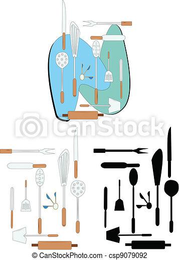 kitchen utensils - csp9079092