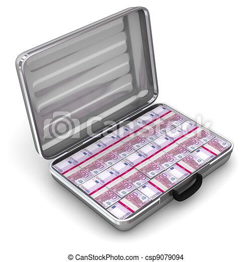 Open Briefcase Vector Open Silver Grey Briefcase