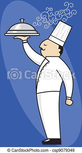 Chef serving - csp9079349