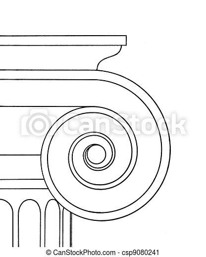 Ionic capital - csp9080241