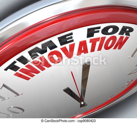 Time for Innovation Clock Need for Change and Ideas - csp9080423