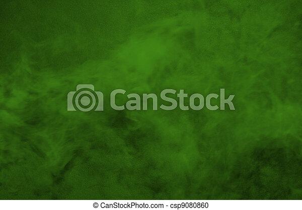Original green smoke dimensional, color background - csp9080860