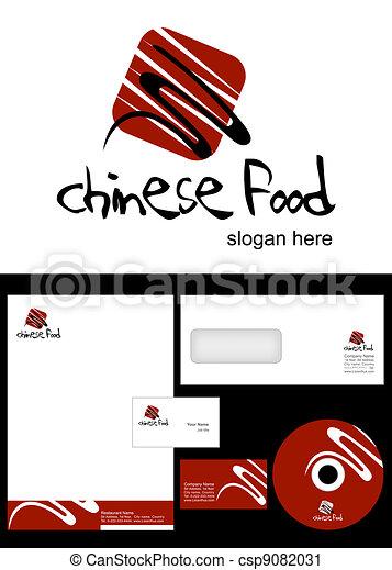Chinese Food Logo Design - csp9082031
