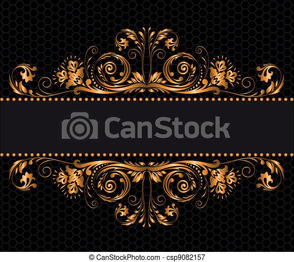 gilded decor - csp9082157